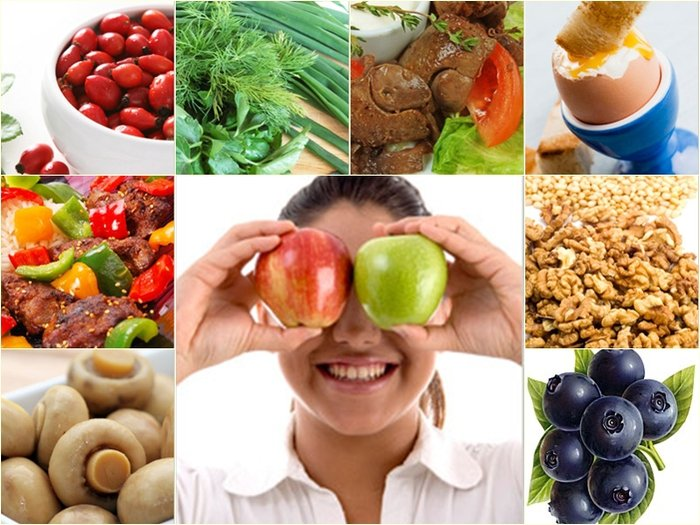 Топ 10 продуктов для здоровья глаз