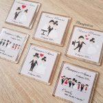 Идеи дизайна подарочных магнитов для гостей свадебного торжества